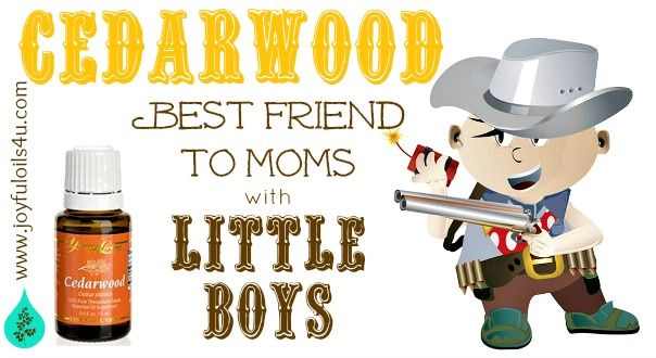Cedarwood essential oil is excellent for calming down over active litle boys!!