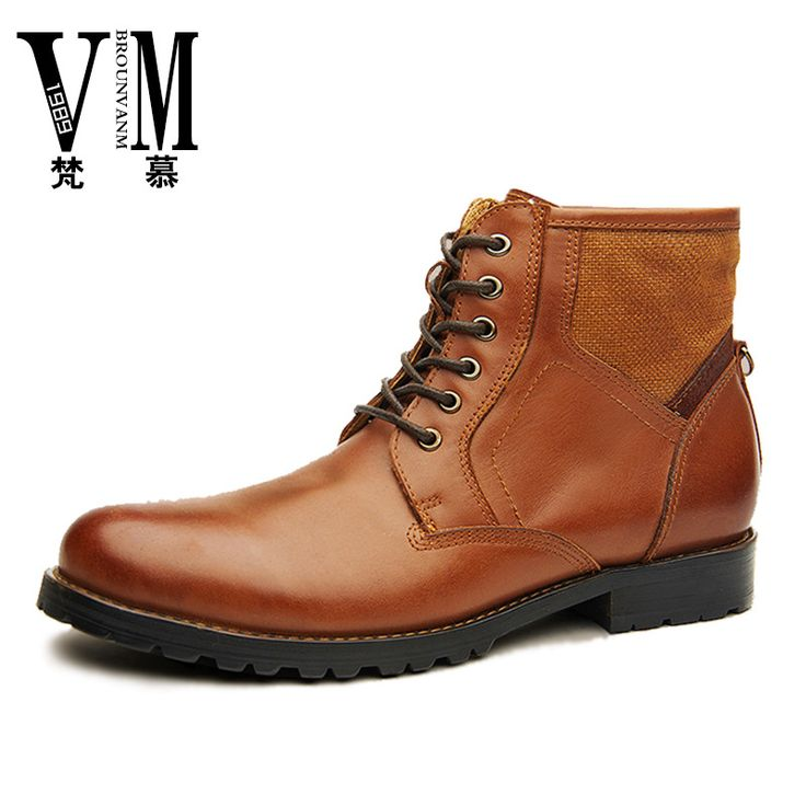 >> Click to Buy << LEATHER BOOTS Mens Casual Martin boots Korean male British male commando summer shoes,Men's Martin boots ,western boots #Affiliate
