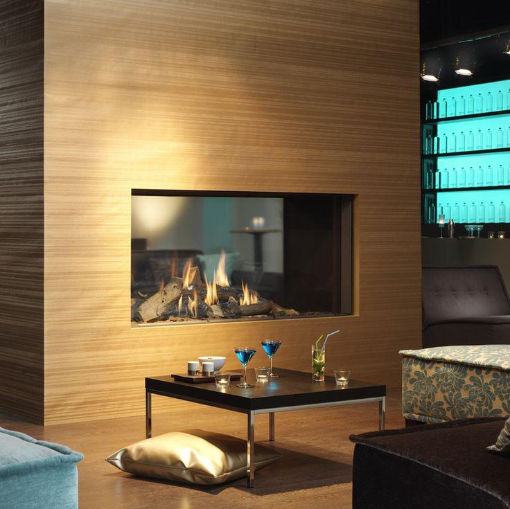 Warmtebron uit houten omgeving