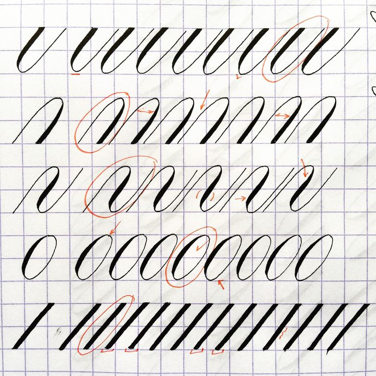 Practice Copperplate Hobby Modern Calligraphy