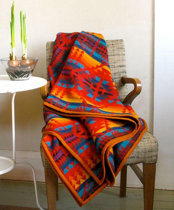 Pendleton Wool Blanket Native American #HeritageUpholstery #Blankets