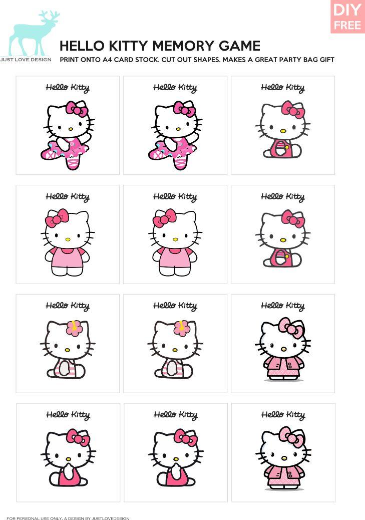 DIY Free Hello Kitty Cupcake Topper  JustLoveDesign