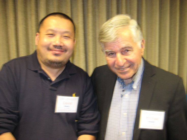 David Sheng and Michael Dukakis