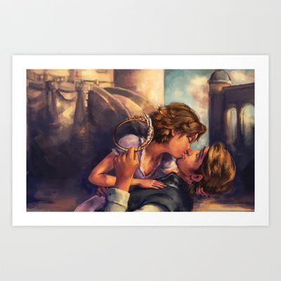 A Kiss for Corona Art Print by Alice X. Zhang