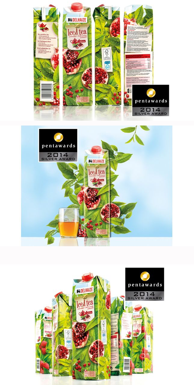 Delhaize / Silver Pentaward Winner 2014 Discover this packaging range of delicious ice tea infusion drinks with fruit taste. www.quatremains.be
