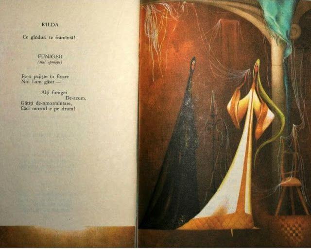 "Adriana Mihailescu illustration from ""Legenda Funigeilor""."