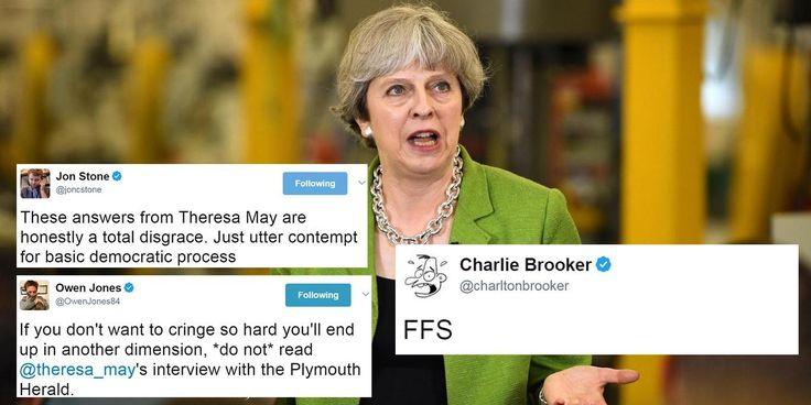 Robots don't win elections - but many people are starting to thinkTheresa May might beimpersonating one in the hope she can change that. Plymouth Herald journalist Sam Blackedge recently interviewed the prime minister. But what should have been a career-defining moment for any journalist was, in fact, a bit of an underwhelming experience.
