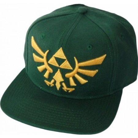 legend of zelda hats | Legend of Zelda Triforce Logo Green Snapback Hat