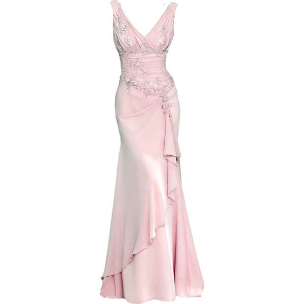 edited by Satinee ❤ liked on Polyvore featuring dresses, gowns, long dresses, pink, pink dress, pink evening dress, pink ball gown and long pink dress