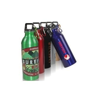 When you are on the go this aluminum 24 oz. water bottle is a great option. Clip the carabiner onto your bag or belt and you are ready for action! $4.15