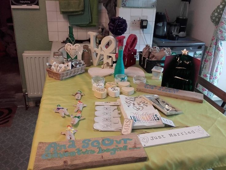 A display of some of my products for a sale room