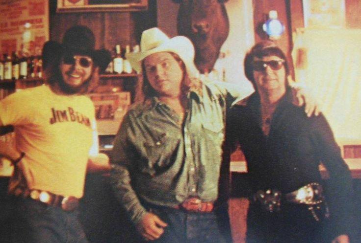 Hank Williams, Jr, Meat Loaf, and Roy Orbison on the movie set of Roadie.
