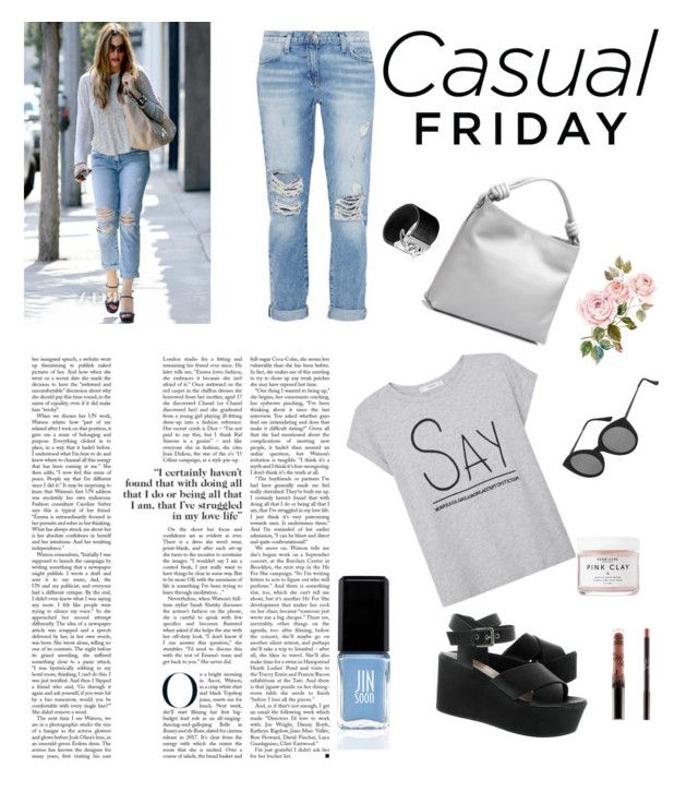 """""""Fridays are for Fashion"""" by raffaellapapami on Polyvore featuring Current/Elliott, MANGO, Loewe, John Hardy, Topshop, JINsoon and Herbivore Botanicals"""