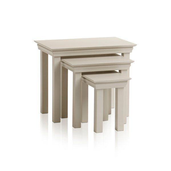 Painted Solid Hardwood Nest Of Tables Nest Of Tables Arlette