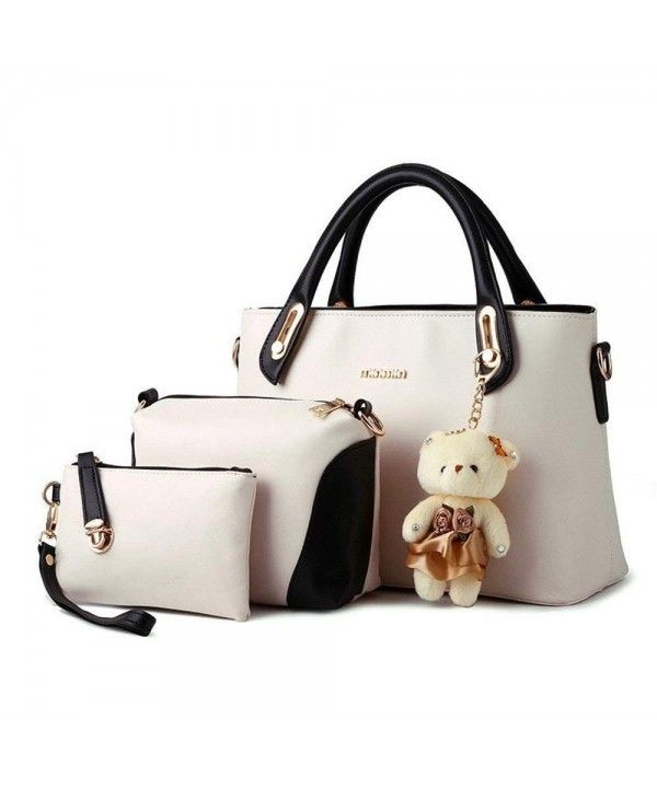 2ef0bf7b7fdd Women Multi-Purpose 3pc set Purse PU Leather Clutches Tote Bag Top ...