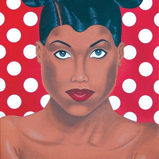 Minnie woman - acrylic on canvas