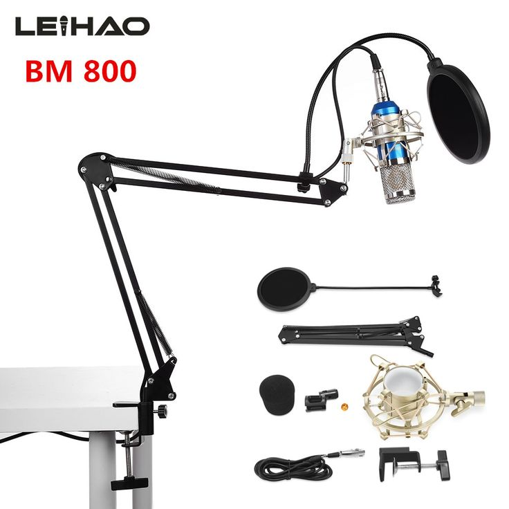 2017 Hot sale Professional BM-800 Condenser Microphone BM 800 Cardioid Pro Audio Studio Vocal Recording Mic+Standing holder
