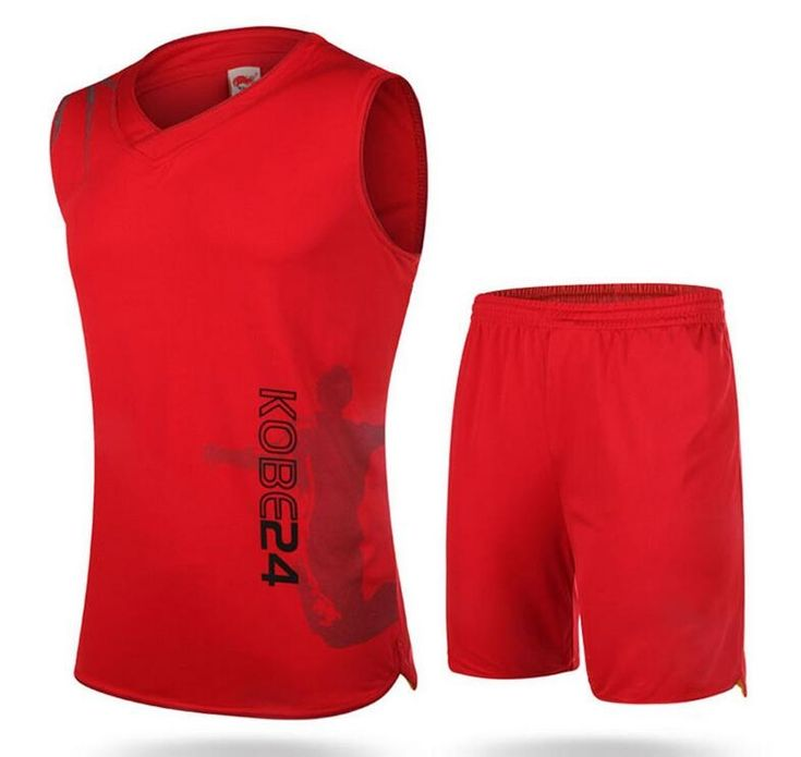 High Quality Men Solid Breathable  Basketball Jerseys Set  Training Tracksuit Sports Suit
