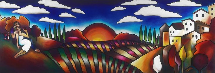 Paradise Found, Stephanie Clair. Framed and Ready to hang canvas giclee. Available at Adelman Fine Art. 619-354-5969