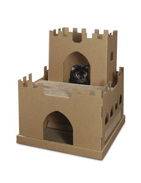 Cardboard cat castle #KittyCardboard