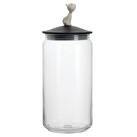 "For Charlie's food.  Alessi ""Mio"" Cat Food Jar, Black Online at johnlewis.com"