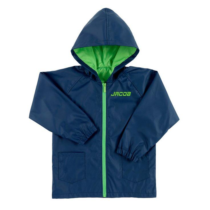 Monogrammed Kids Rain Coat Jacket Girls Boys