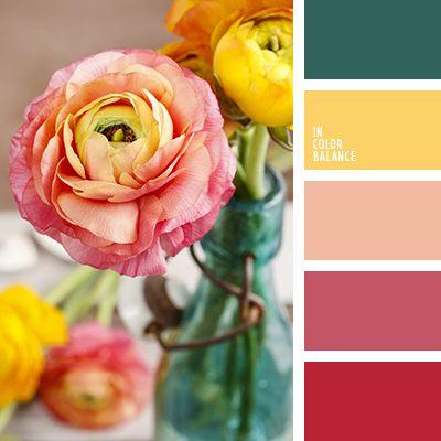 алый, малиновый, насыщенный желтый, насыщенный красный, насыщенный розовый, нефритовый, персиковый, тёмно-зелёный, теплый желтый, яркий желтый.