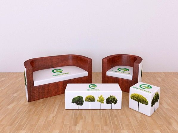 A set of furniture made by Inventini. Beautiful project designed for Eco System by Grzegorz Potaczek