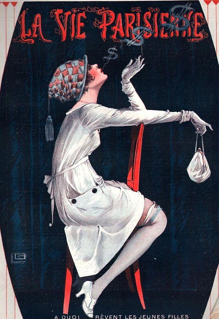 Georges Léonnec illustration for the August 31, 1918 issue of La Vie Parisienne Moda de los años 20-30