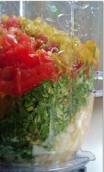 Easy Summer Salsa recipe using your blender!  This is a very easy recipe – which is why I love it – but the cilantro and lime really gives it a FRESH flavor. Your family will love it!