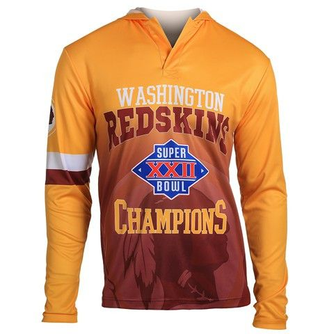 Washington Redskins Super Bowl XXII NFL Champions Poly Hoody Tee