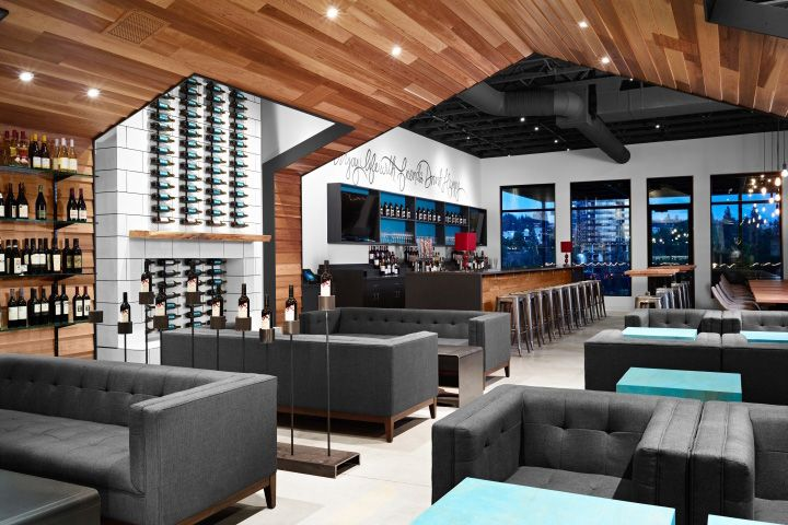 Винтажный дизайн интерьера дегустационного зала Nectar Wine