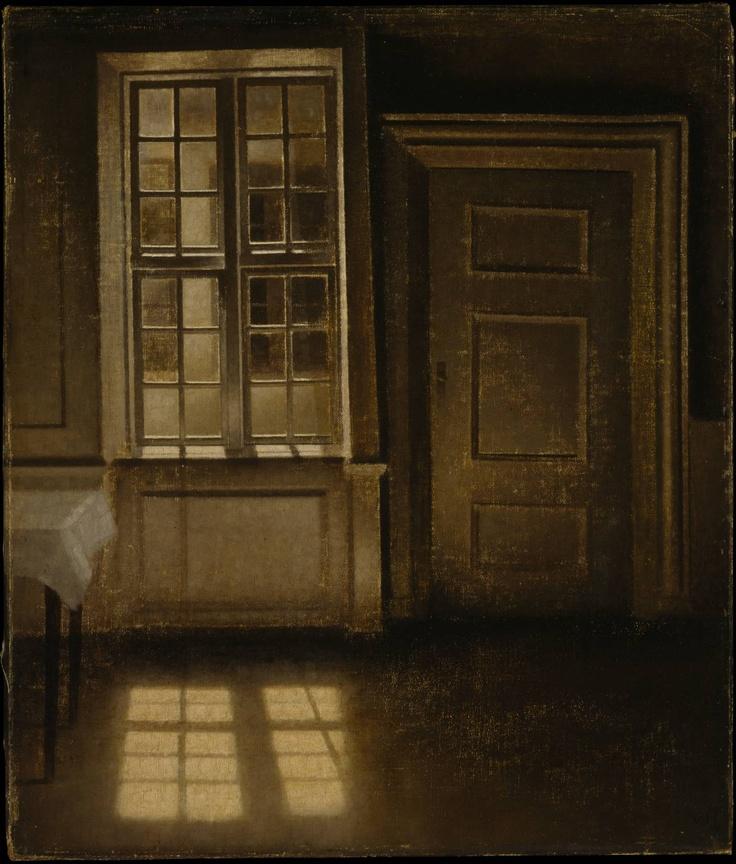Interior, Sunlight on the Floor. Vilhelm Hammershoi
