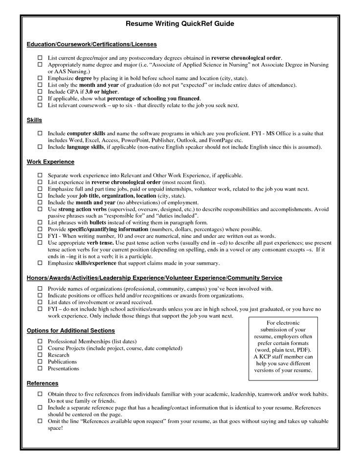 39 best Resume Example images on Pinterest Resume examples, Job - software examples for resume