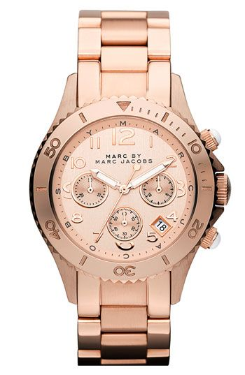 MARC BY MARC JACOBS 'Rock' Round Chronograph Bracelet Watch Nordstrom