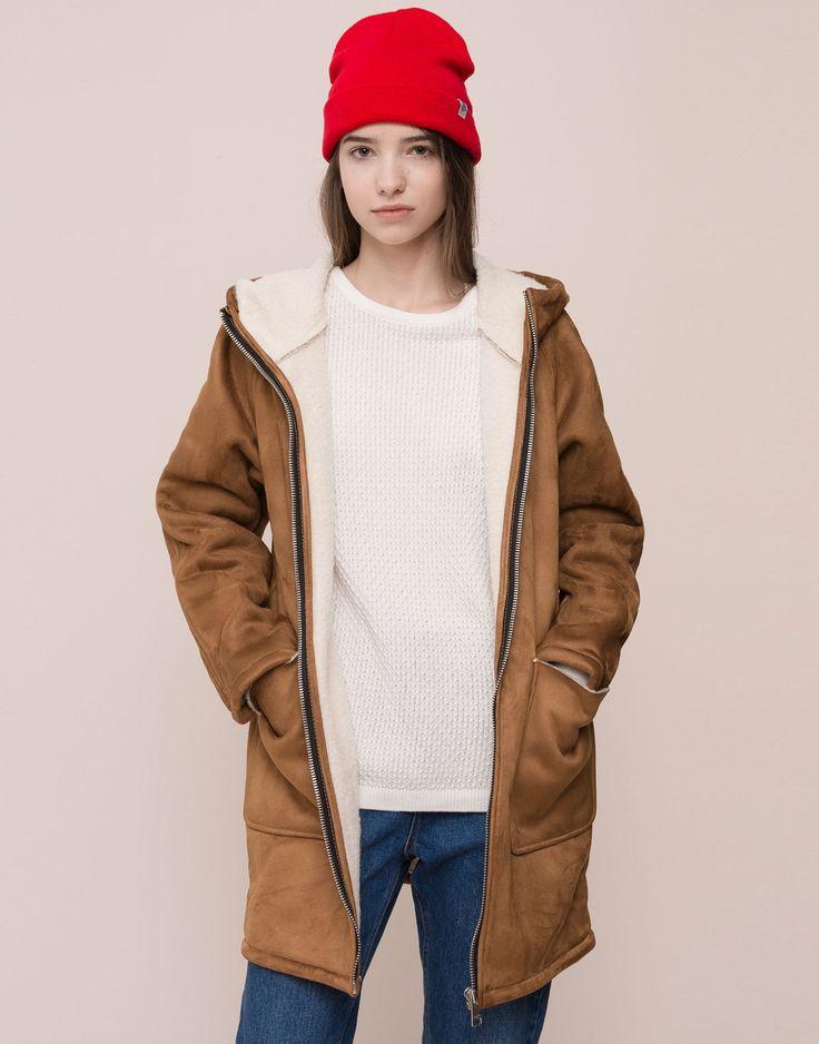 Veste simili cuir femme pull and bear