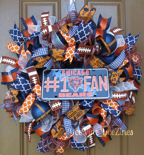 Chicago Bears Deco Mesh Wreath.