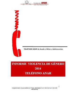 CIDAJ: Informe violencia de género 2014 teléfono ANAR