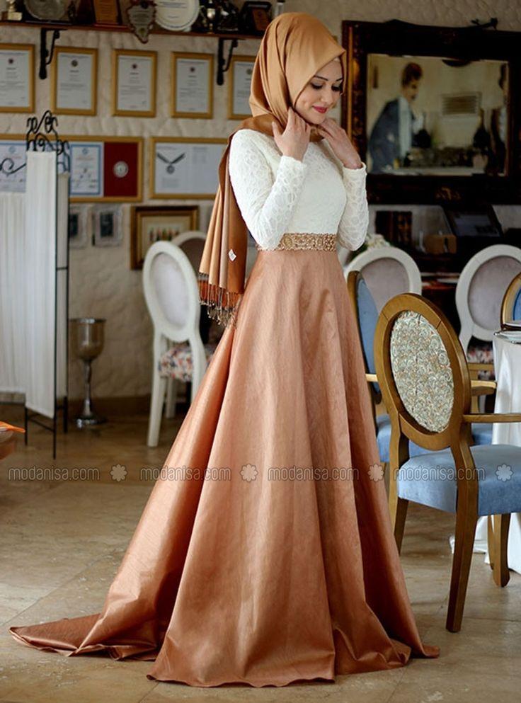 Tuana Evening Dress - Yellow - Gamze Polat