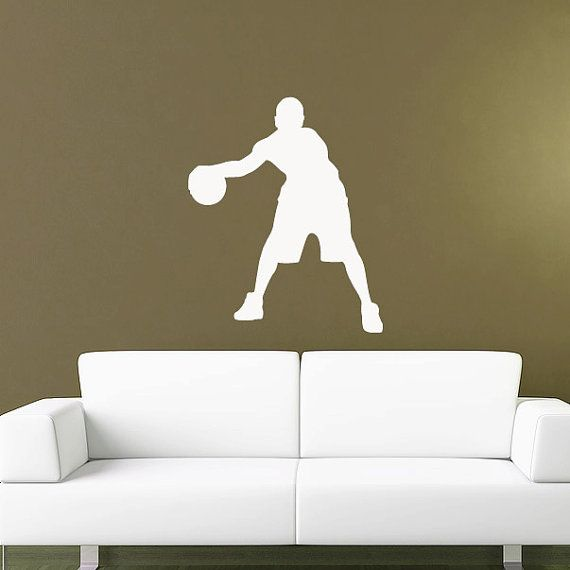 Basketball Wall Decal Sticker Kids Room Sports By Urbandecal, $35.00