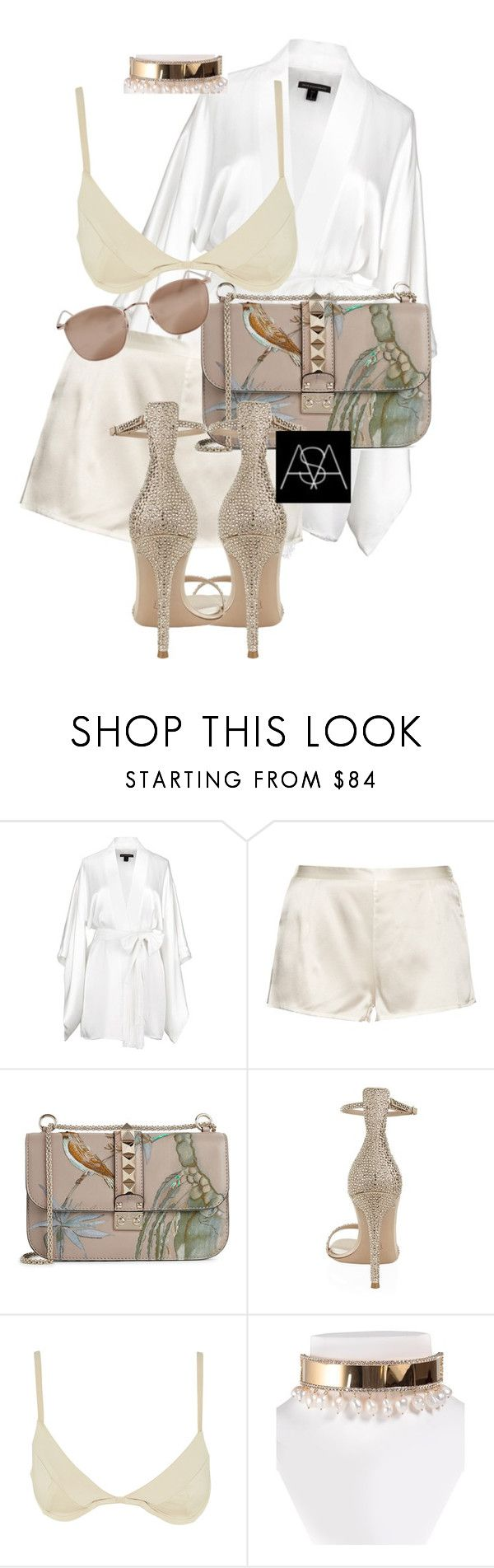 """Untitled #415"" by ana-astylist ❤ liked on Polyvore featuring Kiki de Montparnasse, La Perla, Valentino, Gianvito Rossi, Shourouk and Linda Farrow"