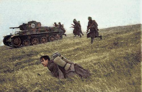Infanterie hongroise en action.