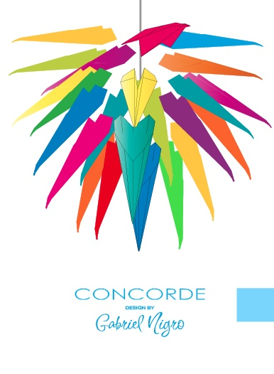 Art Work Concorde Lamp Poster. Design by Gabriel Nigro. Manufactured by Verpan.