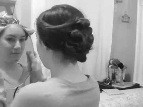 "Lady Mary - Downton Abbey Inspired Hairstyle - this youtube channel is called ""The Long Haired Flapper"" tons of vintage hairstyles!!!"