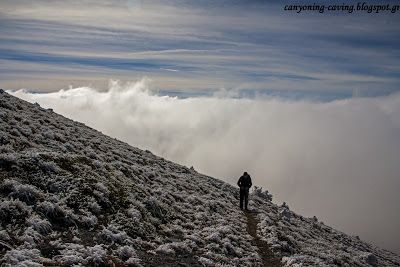 Above the clouds at mt Olympus, Greece