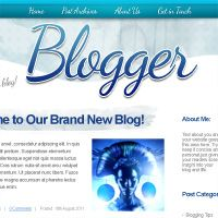 Design an Artistic Watercolor Blog Layout
