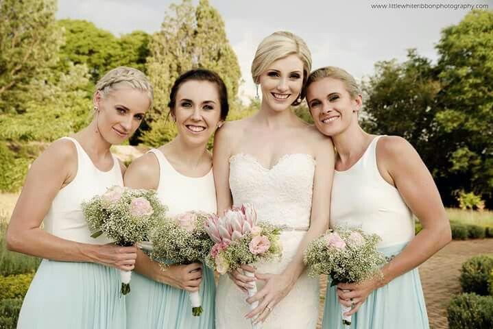 #Bridesmaids #Teal #White #Wedding
