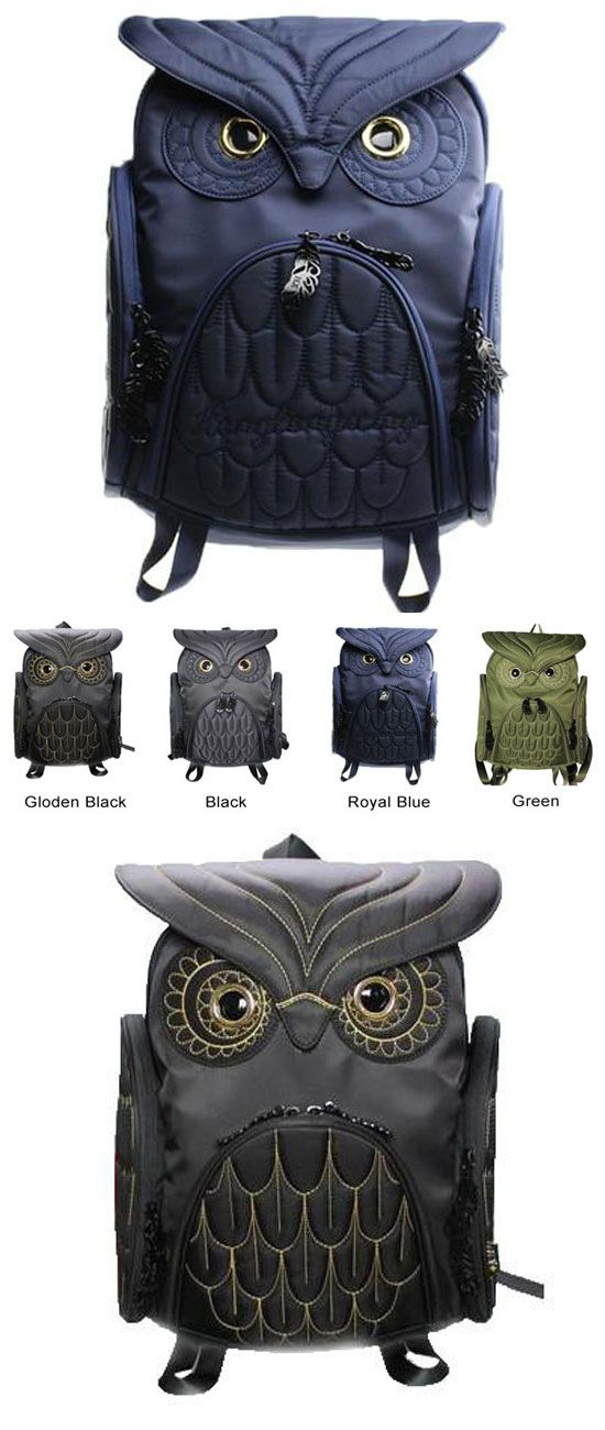 Unique Cool Owl Shape Solid Computer Backpack School Bag Travel Bag for big sale ! #BACKPACK #owl #shape #unique #cool #bag #travel #school