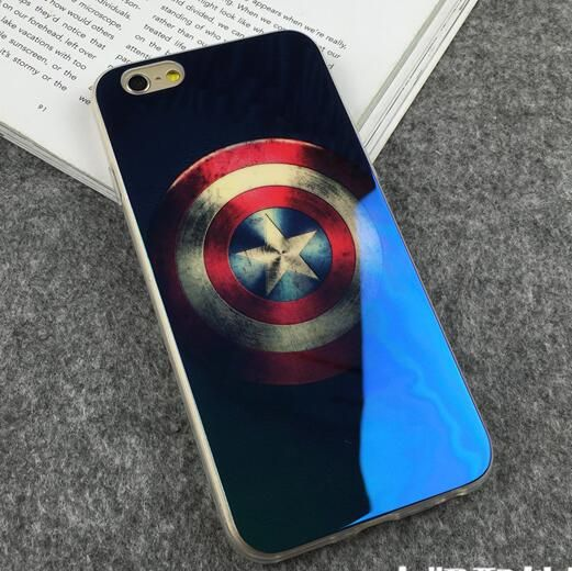 >> Click to Buy << For iphone 7 Case Blue Ray 3D Captain America Mirror Case Cover for iphone7 Plus 6 s 6s plus 5 s 5s se Phone Cases Cool for Man #Affiliate