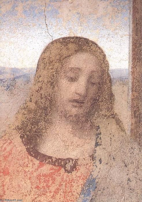 Leonardo Da Vinci-Das letzte Abendmahl Ausschnitt